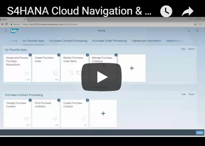 S/4HANA Cloud Navigation Personalization Demo