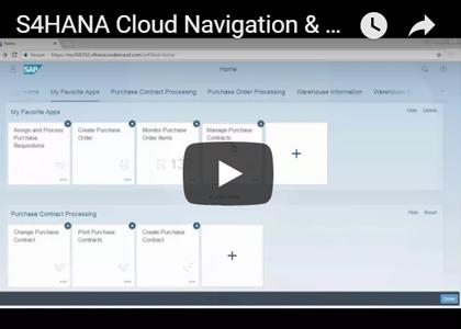 S/4HANA Cloud Navigation Personalization Demo