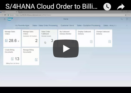 S/4HANA Cloud Order-to-Billing Demo