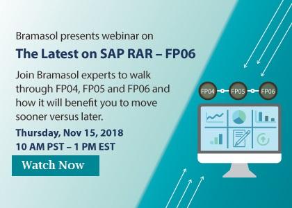 Bramasol's SAP RAR Webinar