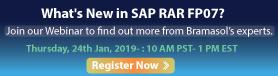 What's New in SAP RAR FP07?
