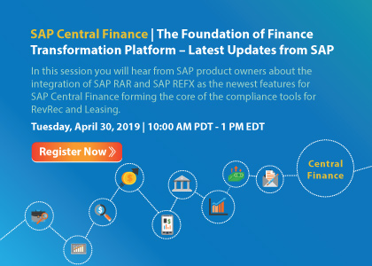 SAP Central Finance – The Foundation of Finance Transformation Platform – Latest Updates from SAP