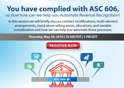 You have Complied with ASC 606 So Now How Can You Automate Revenue Recognition?
