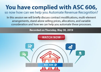You have complied with ASC 606