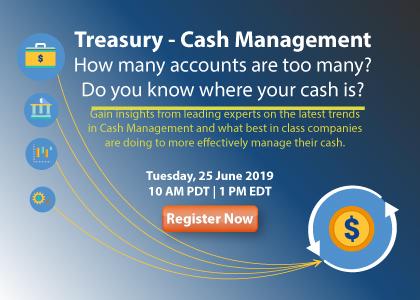 Treasury - Cash Management.  How many accounts are too many?