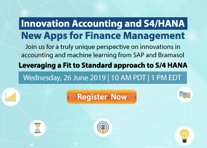Innovation Accounting and S4/HANA - New Apps for Finance Management