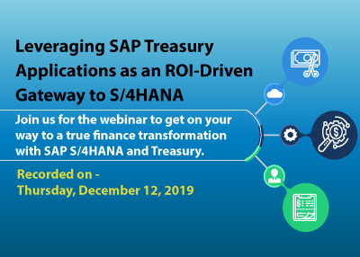 Leveraging SAP Treasury Applications