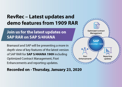 RevRec – Latest updates and demo features from 1909 RAR