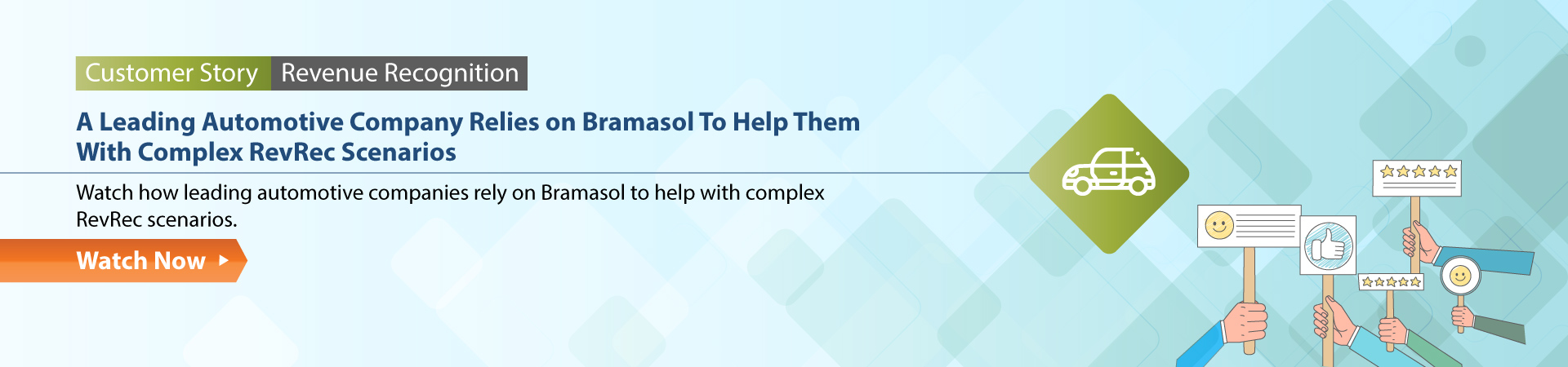A Leading Automotive Company Relies on Bramasol To Help Them With Complex RevRec Scenarios Customer Story