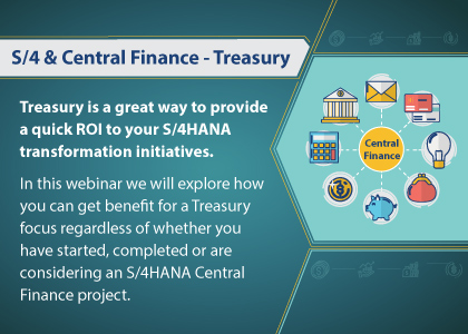 S/4 & Central Finance - Treasury