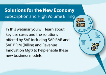 Solutions for the New Economy – Subscription and High Volume Billing Webinar