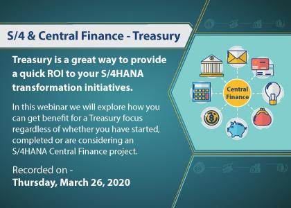 S/4 & Central Finance - Treasury
