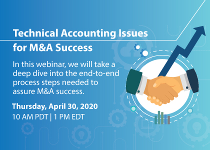 Technical Accounting Issues for M&A Success