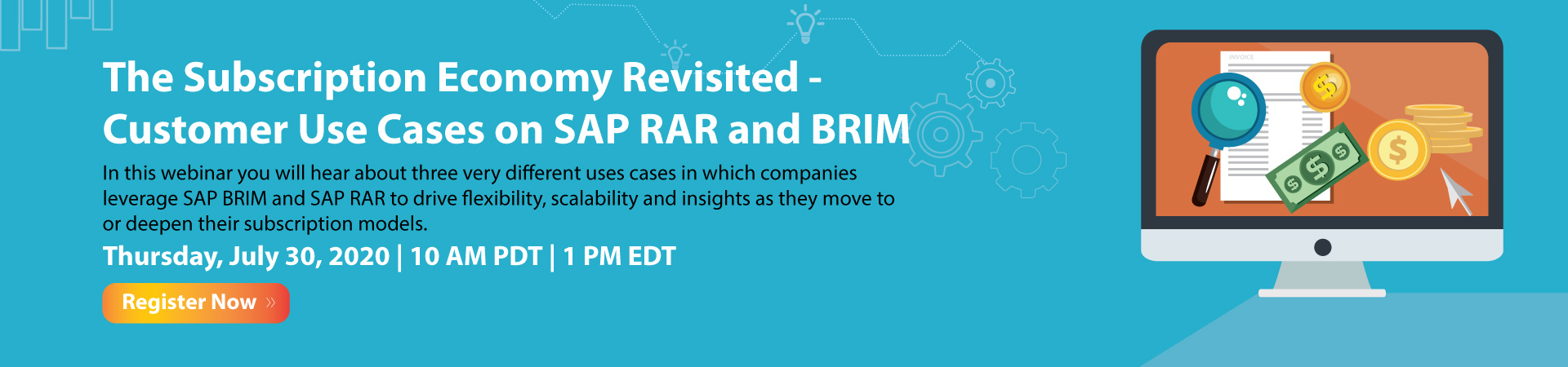 The Subscription Economy Revisited - Customer Use Cases on SAP RAR and BRIM Banner