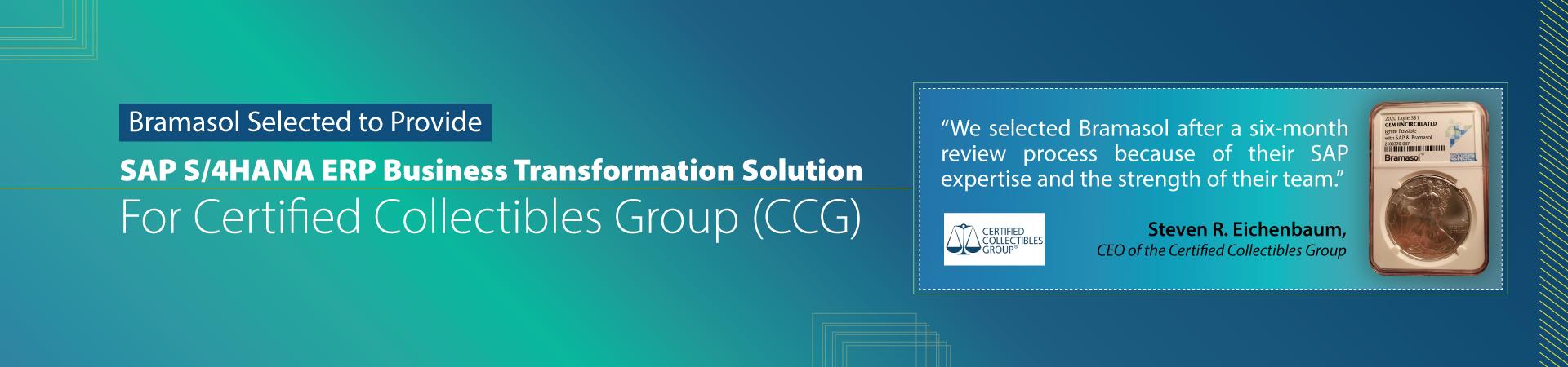 SAP S/4HANA ERP Business Transformation Solution For CCG Slider