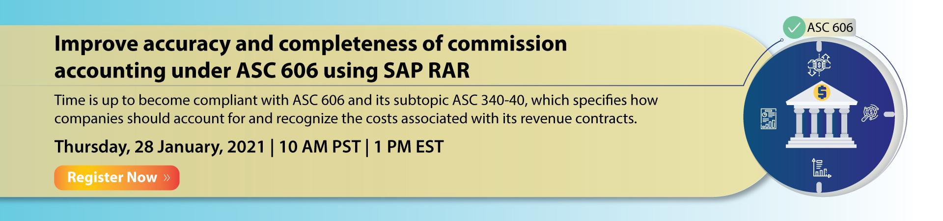 ASC 606 using SAP RAR Banner