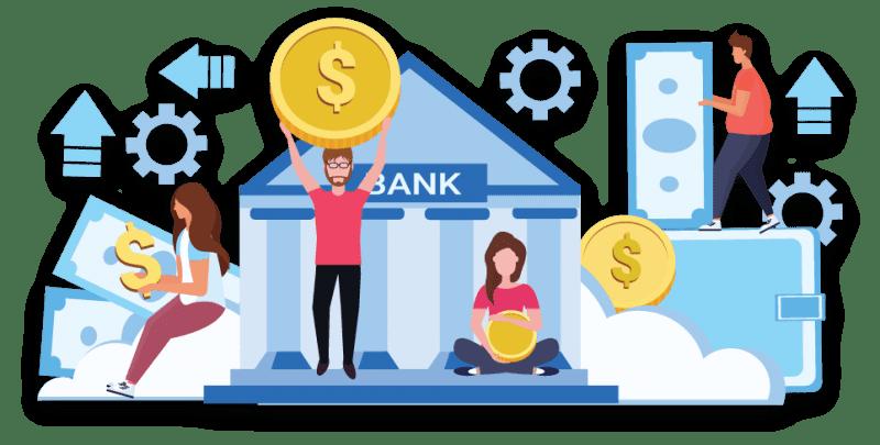 Banking and Bank Management Assessment Banner Vector