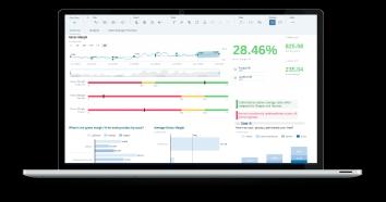 Slider Analytics and Dashboard vector